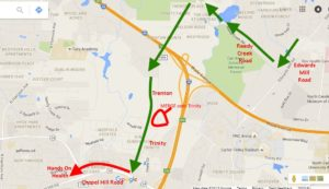 Bypass between Cary NC and Raleigh NC to avoid fair traffic