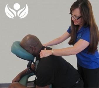 Employee massage chair massage corporate chair massage