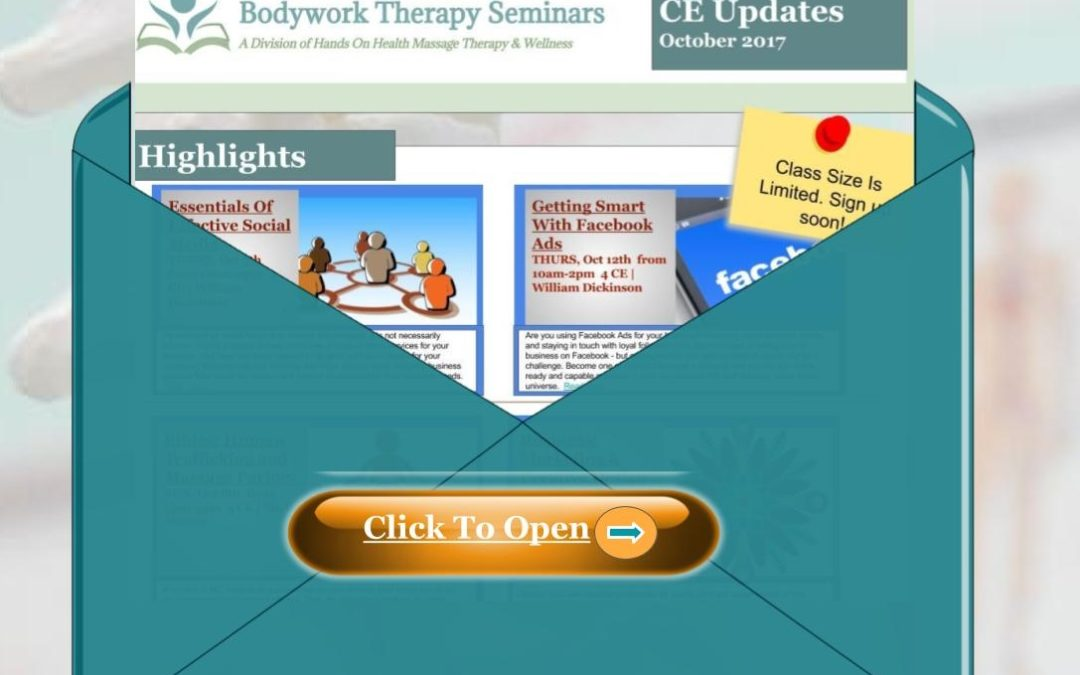 Bodywork Therapy Seminars Updates Fall 2017