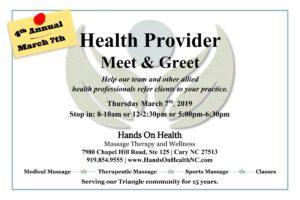 Health Provider Meet & Greet