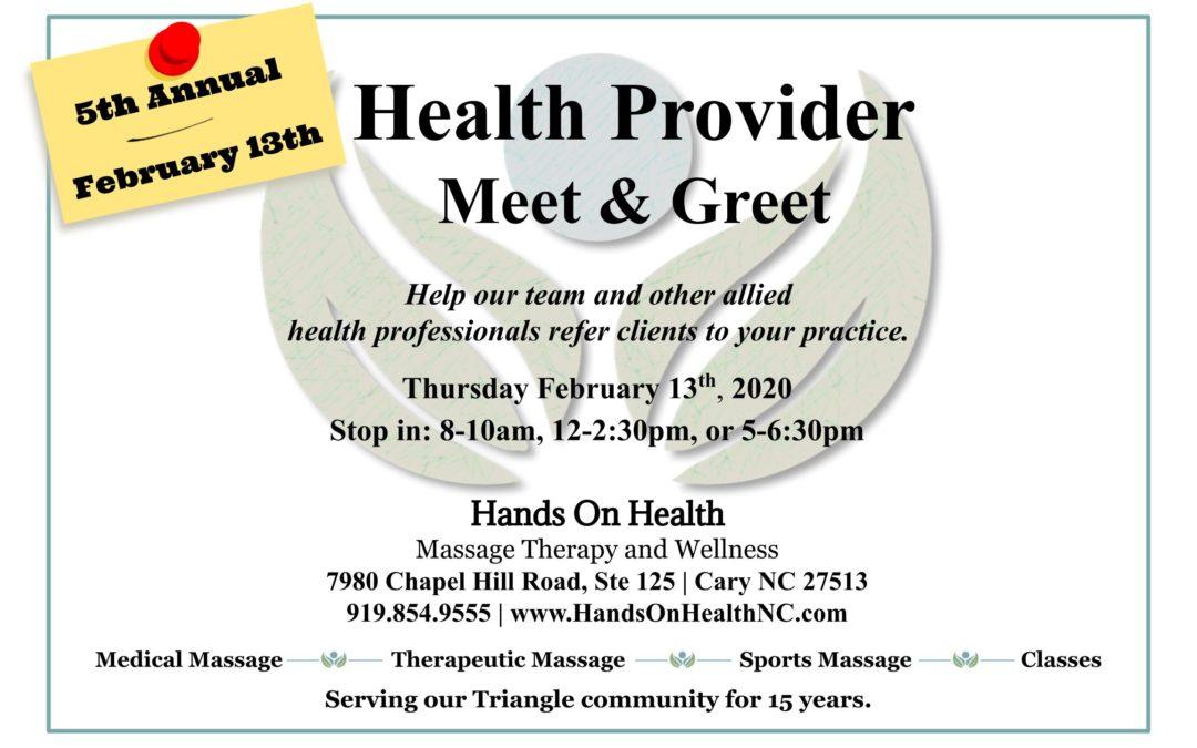 Health Partner Meet & Greet